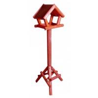 Vogelhuis dakleer rood/groen 114 cm