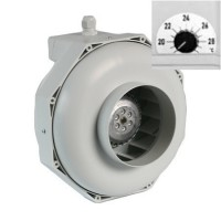 Can Fan Centrifugal Inline Fan RKW 370m3 incl. thermostat