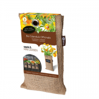 Baza Seeds & Mini Garden Hang Jute kweekzak Calendula