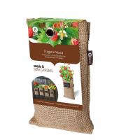 Baza Seeds & Mini Garden Hang Jute kweekzak Bosaardbei