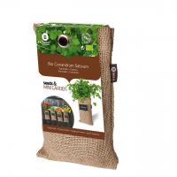 Baza Seeds & Mini Garden Hang Jute kweekzak Koriander