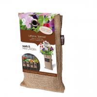 Baza Seeds & Mini Garden Hang Jute kweekzak Lathyrus