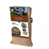 Baza Seeds & Mini Garden Hang Jute kweekzak Lobelia