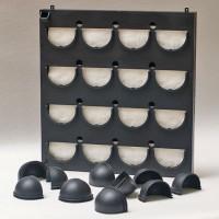 Flowall compleet, 16 vakken zwart