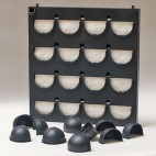 Flowall complete, 16 compartments black