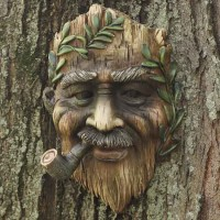 Tree Face 1, Man with pipe