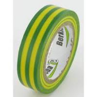 Isolatietape 15mm groen/geel rol 10 meter