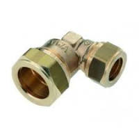 "Bonfix elbow shackle 1/2""x15 taper thread/comp"