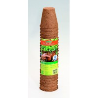 Biodegradable plant pots round 24 pcs - 6 cm