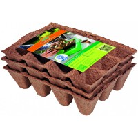 Biodegradable plant pots round 48 pcs - 8 cm