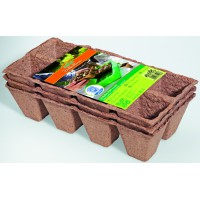 Biodegradable plant pots square - 3 x 36 pcs