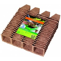 Biodegradable plant pots square - 3 x 8 pcs