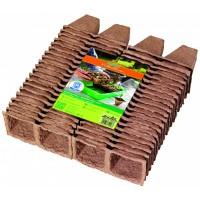 Geperste groeipotjes vierkant - 10 trays á 8 stuks