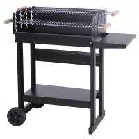 BBQ wagen 62x46 cm mat zwart