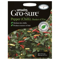 Gro-sure Chilli Zaden Basket of Fire (spaanse peper)