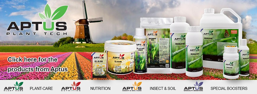 Aptus Plant Nutrients - Complete Aptus line here at Tuincentrum Holland